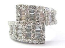 18KT Multi Shape Diamond 2-Row Ring White Gold 1.81Ct