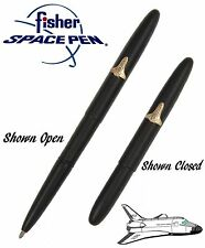 Fisher Space Pen #600BSH / Matte Black Bullet Pen with Gold Shuttle