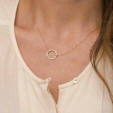 Circle Necklace Pendant Simple Dainty clavicle necklace Gold Karma Infinity