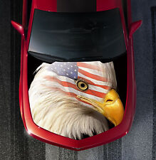H43 EAGLE AMERICAN FLAG Hood Wrap Wraps Decal Sticker Tint Vinyl Image Graphic