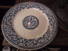 ancienne assiette en faience de gien bleu camaieu style renaissance XIXe 26.5cm!