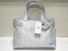 Armani JR. NEW GIRLS NYLON ALL OVER EAGLE LOGO & FLOWER HANDBAG RTL: $230 Q157