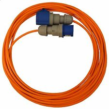 10m Caravan Camping Hook Up Cable 16A Site Orange Extension Lead Electric