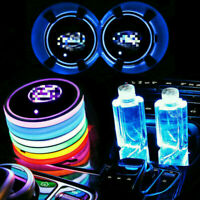 2x Colorful Led Car Cup Holder Bottom Pad Mat Auto Atmosphere Fit For BMW MINI