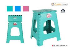 FOLDABLE STEP UP STOOL PLASTIC SEAT KID KITCHEN BATH TOILET 35.5X31.5X44CM