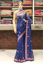 Bollywood Indian Traditional Designer Hand Crafted Saree Sari Bridal Party Dress
