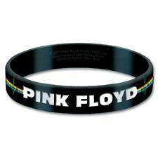 Pink Floyd Official Wristband Bracelet Band Logo Black Rubber Gummy New Sealed