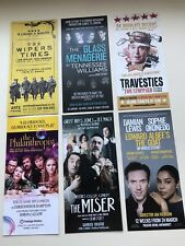 6 x different flyer / leaflet THE MISER TRAVESTIES GLAS MENAGERIE etc.
