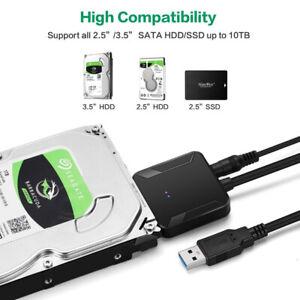 "Cavo Adattatore USB 3.0/2.0 SATA 22 Pin 2.5/3.5"" Festplatte HDD SSD Convertitore"