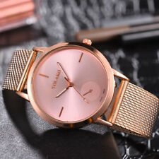 Fashion Unisex Men Women's Analog Quartz Stainless Steel Wrist Watch Bracelet