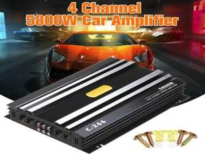 5800W 4 Channel 12V Home Car Audio Power Digital Amplifier Sub-woofer 4 Speakers