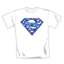 "SUPERMAN ""Comic Blue"" Official T-Shirt (M)"