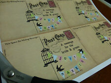 40 x LARGE vintage postcard style DIY Wedding Guest Book cards / Wish Tree tags
