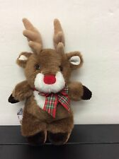 "MARY MEYER Reindeer 8"" FINGER PUPPET PLUSH Stuffed Animal Brown From 1994"