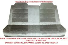 BLACK VELOUR REAR SEAT COVER  FIT FORD FALCON 2002-2007 MK II, MK III, BA, BF,XT