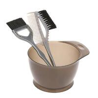 3 pz / set di plastica per capelli colorazione pennello pettine ciotola M0B5