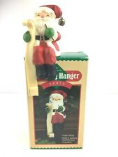 Hallmark Stocking Hanger Holder Santa 1984 Vintage Santa Holding Long List