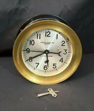 "Chelsea U.S.Navy Zig Zag Clock Us Government 80'S 6"" Hinged~Original Excellent"