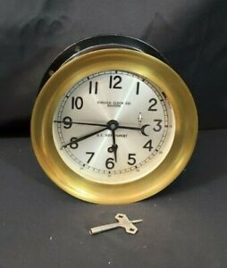 "CHELSEA U.S.NAVY ZIG ZAG CLOCK US GOVERNMENT 80'S 6"" HINGED~ORIGINAL  EXCELLENT"