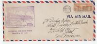USA 1938 flight cover MONTEREY cachet etc