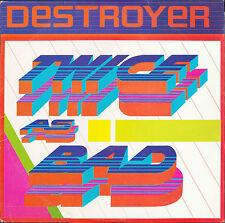 DESTROYER - TWICE AS BAD - LP - Guy Records GR-001 - Ogliver Jacobs Reggae Soca
