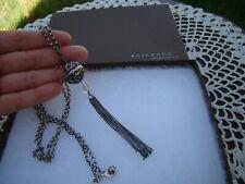 Crystal Tassel Pendant Necklace N1502 Silpada Sterling Silver Filigree Sphere