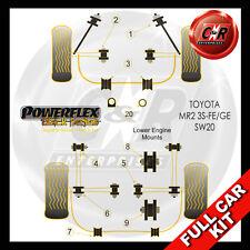 Toyota MR2 3S-FE/GE SW20 (93-00) Powerflex Black Complete Bush Kit