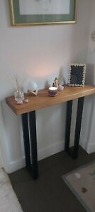 Industrial Console Table - Narrow Hall Table - Rustic - Chunky - Solid Wood