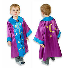 Luxury Kids Boys Purple Moon Stars Wizard Cloak Fancy Dress (3-8yrs) Slimy Toad