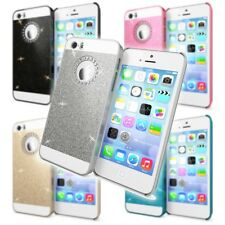 Apple iPhone SE 5 5S Handy hülle von NALIA Glitzer Hard Case Cover Schutz Bumper