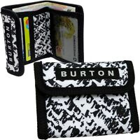 BURTON Geldbörse schwarz weiß Portemonnaie Geldbeutel Geldtasche Brieftasche