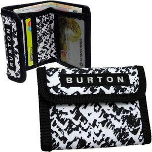 Burton Wallet Black White Purse Wallet Purse Briefcase