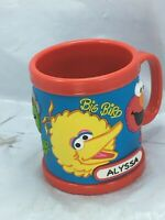 "2008 Sesame Street Place Workshop Cup cookie Monster Big Bird Elmo ""Alyssa"" name"