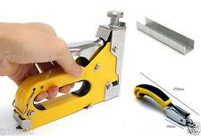 Heavy-Duty Staple Gun Brad Nailer Cordless Stapler Tacker Remover + 1000 Nails