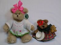 The Bearington Collection Plush Teddy Bear Tatum Tulip LOT Boyds Teacup Tartan