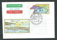 1983 ITALIA AEROGRAMMA TRASVOLATA ATLANTICA FDC - 4