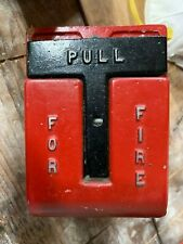 Red National Time & Signal Corp T Bar Fire Alarm Pull Station 620M