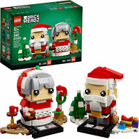 LEGO 40274 BrickHeadz Mr. & Mrs. Claus Building Kit 341 Pcs + Tracking number