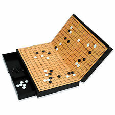 MYUNGIN Folding Magnetic Travel Go Weiqi Baduk Game Set Board Pieces Drawer UK