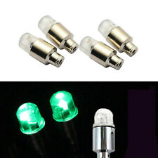 4 Pcs Car Off-Road Wheel Tire Valve Dust Cover Decoration Caps Green LED For BMW