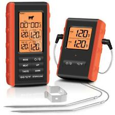 New listing Wireless Meat Thermometer Digital Remote Cooking Thermometer w/ 2 Probes En2053