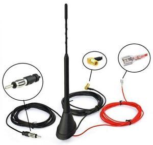 Universal Roof Mount Active Amplified DAB + FM Radio Car Aerial Antenna Mast /uk