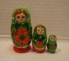 Russian Wooden Nesting Dolls - Russian Matryoshka  - 3 pieces