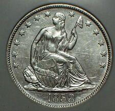 1858 O Silver Half Dollar Ngc Shipwreck Ss Republic Doubled 1 -Wood Case Dvd Coa