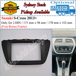 Fascia facia Fits Suzuki SX4 S Cross 2013+ Double Two 2 DIN Dash Kit