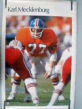 KARL MECKLENBURG BRONCOS  1985 VINTAGE ORIGINAL NFL SI SPORTS ILLUSTRATED POSTER