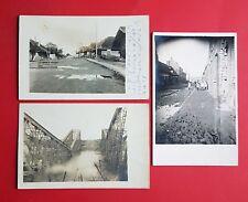 3 x Foto AK RUSSLAND 1. WK 1916/17 Strassenpartien und zerstörte Brücke  ( 36935
