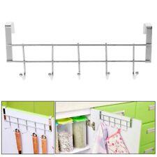 5 Hooks Over Door Clothing Hanger Rack Cabinet Door Loop Holder Shelf for Home
