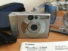 S300 Canon  PowerShot Digital ELPH - IXUS 300 2.1 MP Camera  w WaterPoof Case