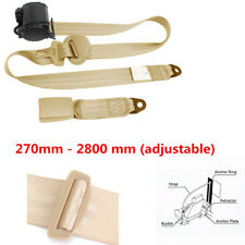 Automatic Beige 3 Point Retractable Safety Straps Car Seat Belt Buckle Fashion